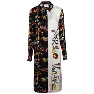 Authentic VERSACE dress shirt w/ multicolor print